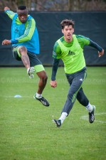 Sounders Preseason (Feb 9, 2013): Steve Zakuani and Brad Evans