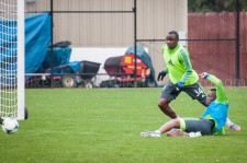 Sounders Preseason (Feb 9, 2013): Steve Zakuani and Jhon Kennedy Hurtado