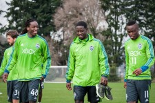 Sounders Preseason (Feb 9, 2013): Shalrie Joseph, Eddie Johnson, and Steve Zakuani