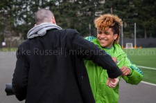 Sounders Preseason (Feb 9, 2013): Photographer Chris Coulter (soundersphotos.com) and DeAndre Yedlin