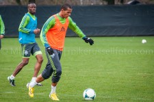 Sounders Preseason (Feb 9, 2013): Steve Zakuani and Leo Lelis