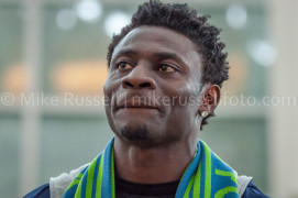 Obafemi Martins Arrives in Seattle
